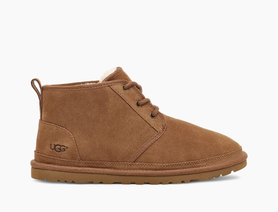 Shearling Mini Lace Up - CHESTNUT