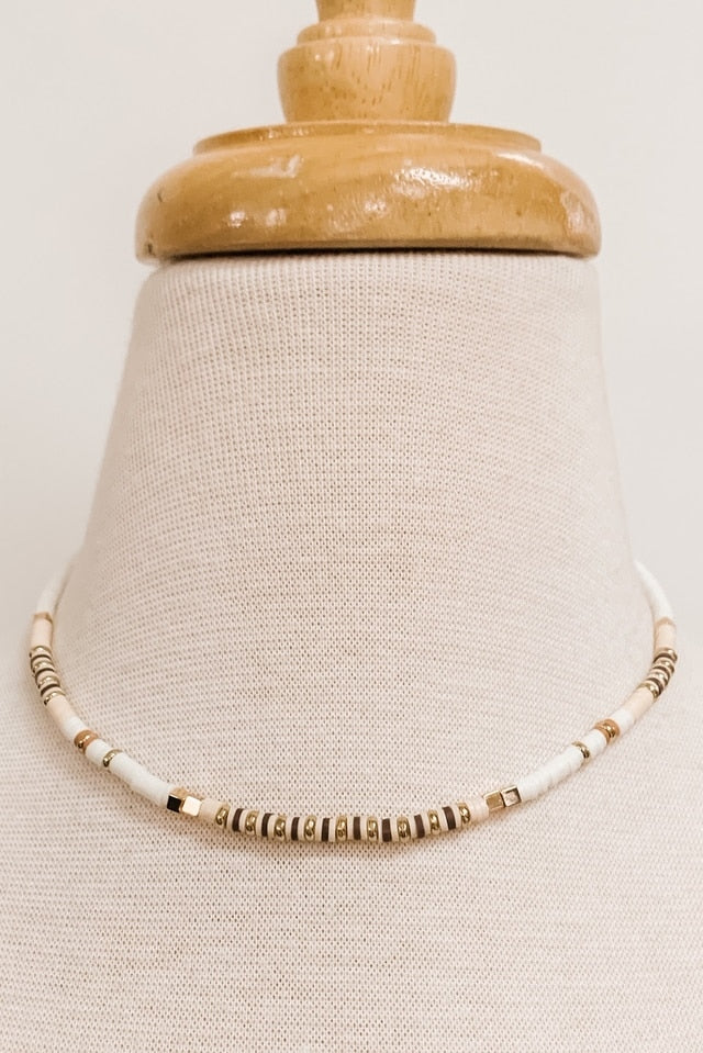Shell/Rubber Bead Collar Neck