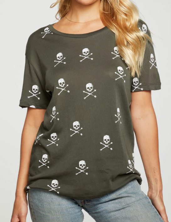 Short Sleeve Skull Tee - SAFARI