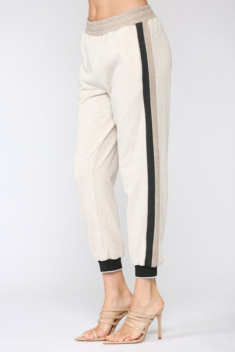 Side Stripe Terry Jogger - MLTI