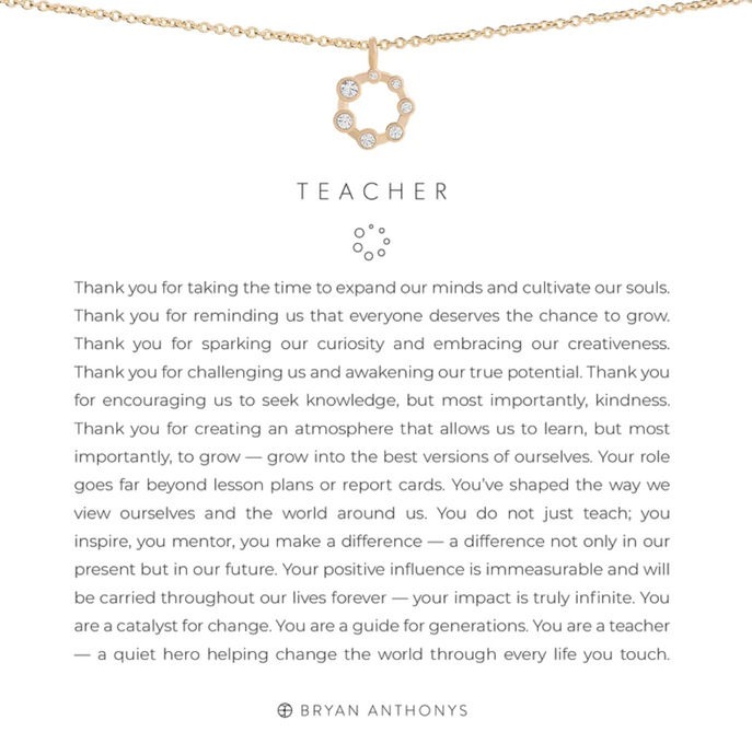 Teacher Necklace - GOLD