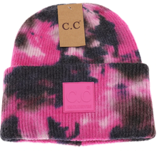 Load image into Gallery viewer, Tie Dye Hat - BLK/HPNK