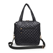 Load image into Gallery viewer, Wanderlust Quilted Nylon Tote - BLACK