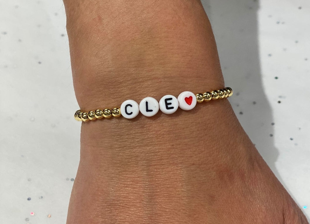 Word Stretch Bracelet - CLE HEART