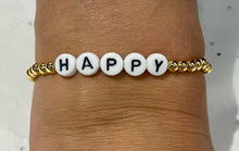 Load image into Gallery viewer, Word Stretch Bracelet - HAPPY