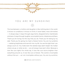 Load image into Gallery viewer, You Are My Sunshine Necklace - GOLD/WHT