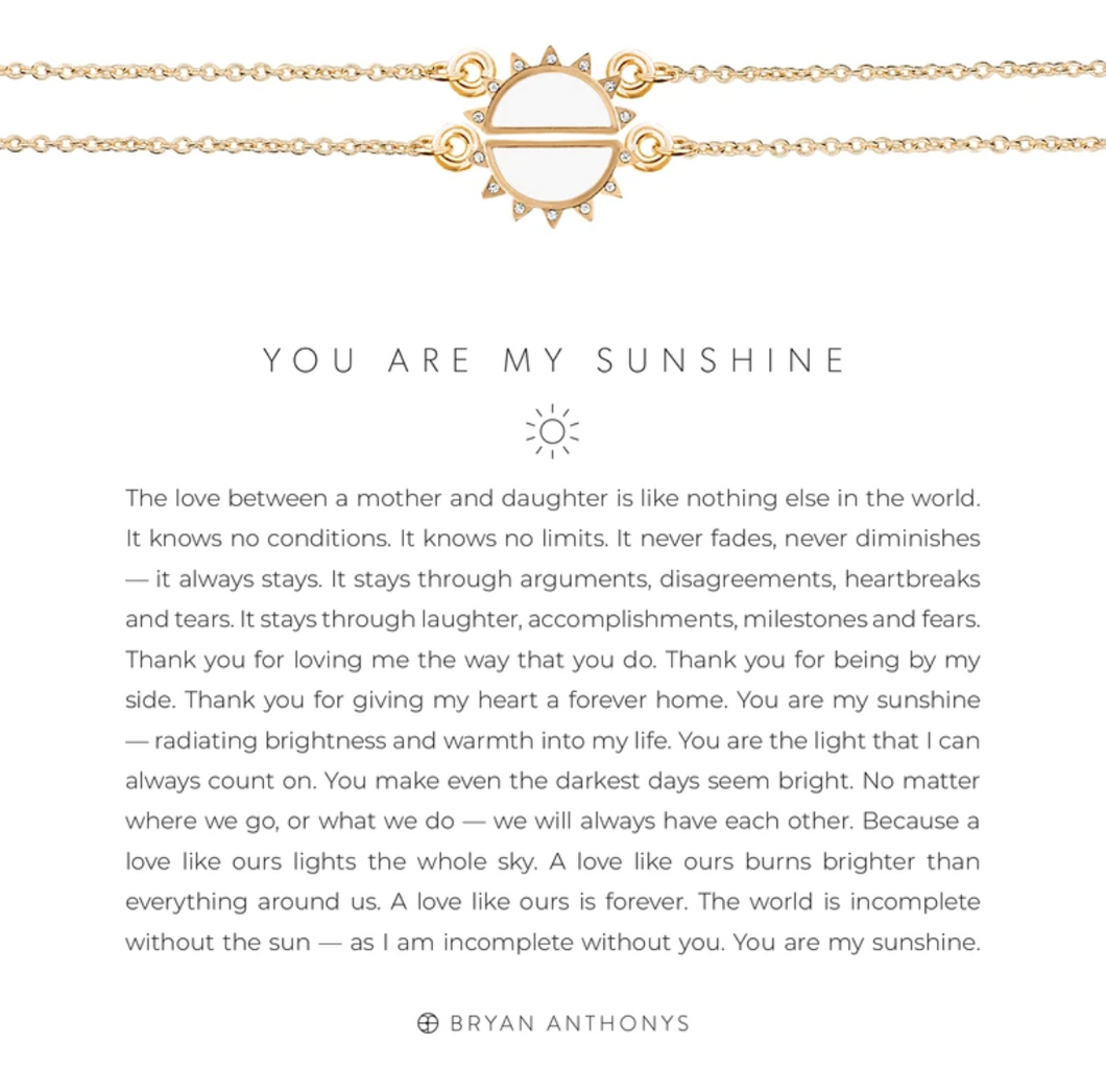 You Are My Sunshine Necklace - GOLD/WHT