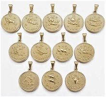Load image into Gallery viewer, Zodaic Coin Necklace