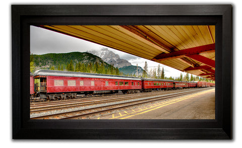 Banff Train Station Framed - Take a walk down memory lane to the bustling past