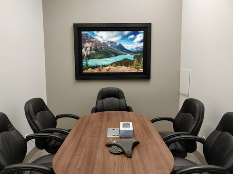 Peyto Lake Alberta - The perfect viewing shown hanging in an office meeting room
