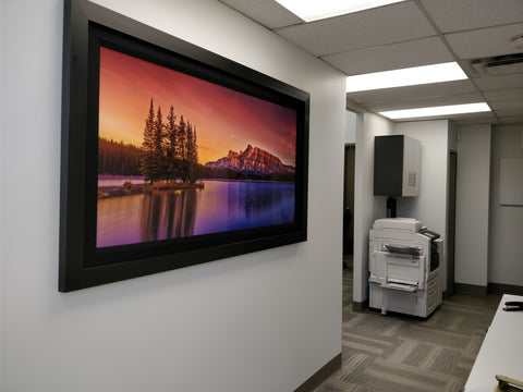 Banff National Park - Two Jack Lake - Shown hanging in an office for all to enjoy the amazing warmth and nature