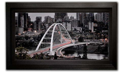 The new Walterdale Bridge in Edmonton Alberta - Framed