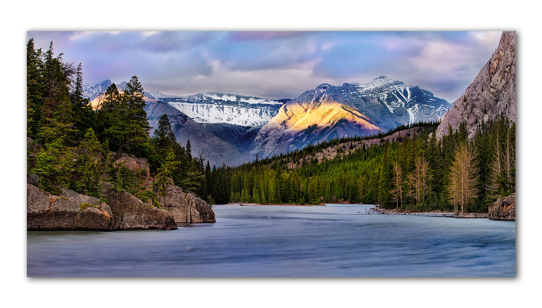 Bow lake in Banff Alerta printed on metal, ready to hang on your wall