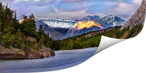 Banff Alberta - Bow Lake shored, printed on Metallic paper - Add your own Frame