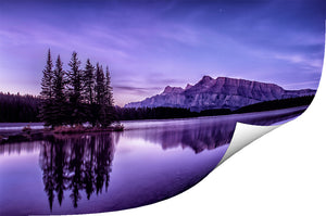 Two Jack Lake Alberta perfct sunrise photo on Metallic Paper - Refreshing Clarity