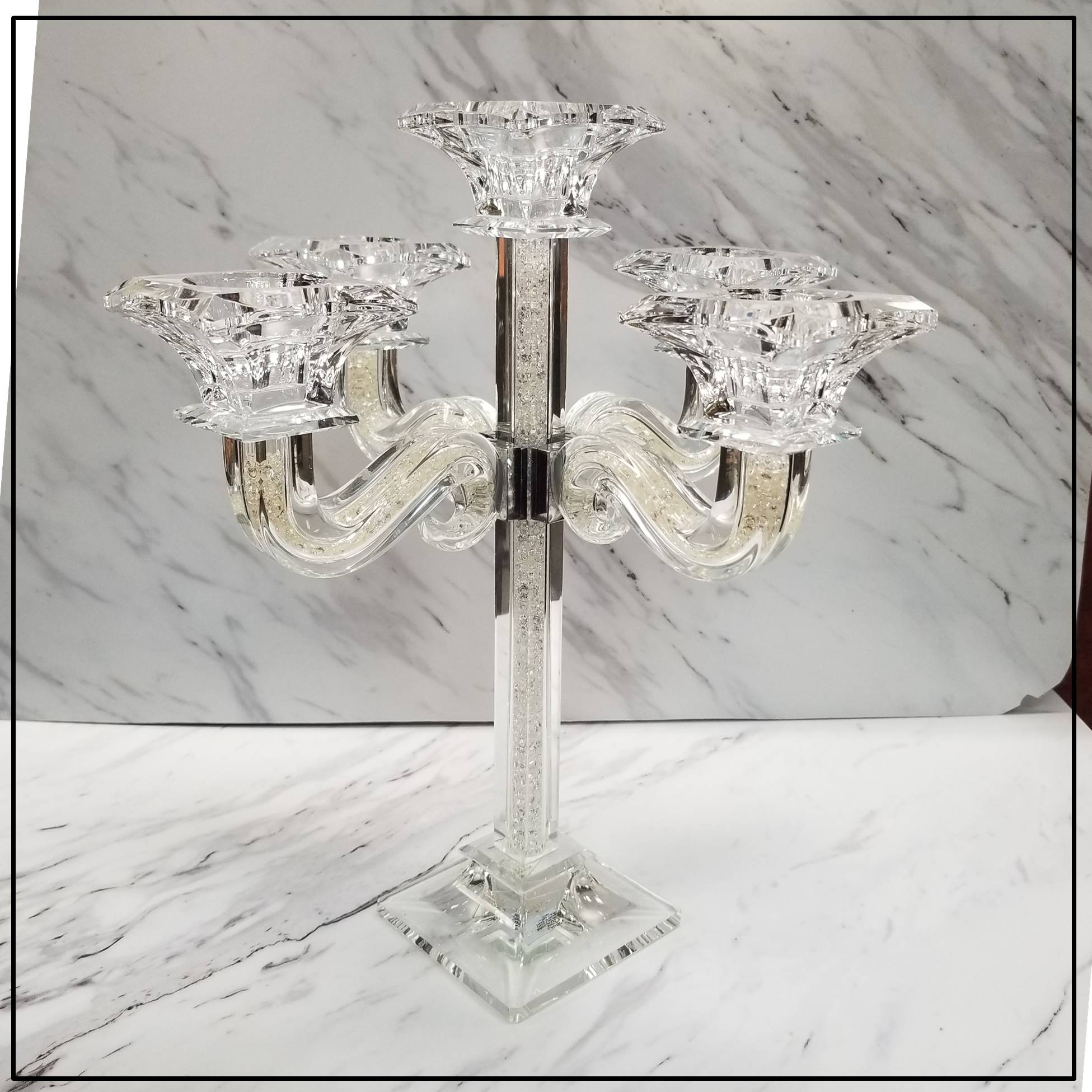 Majestic Crystal Fill Candelabra 5 branch