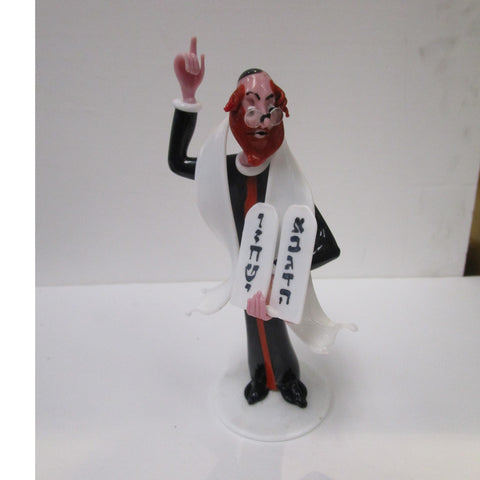 Gianni Toso Glass Figurine Rabbi with Tablets