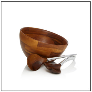 Luna Salad Bowl with Servers