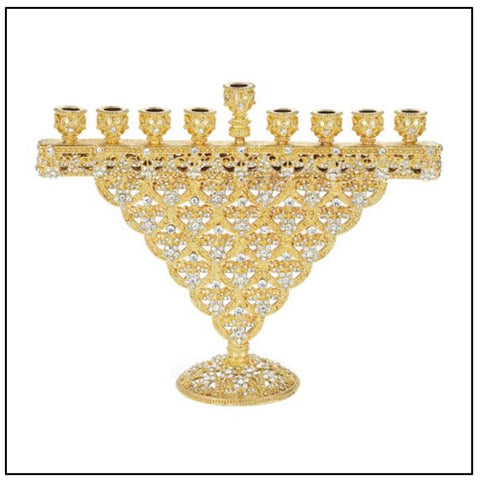 Decorative Gold Menorah