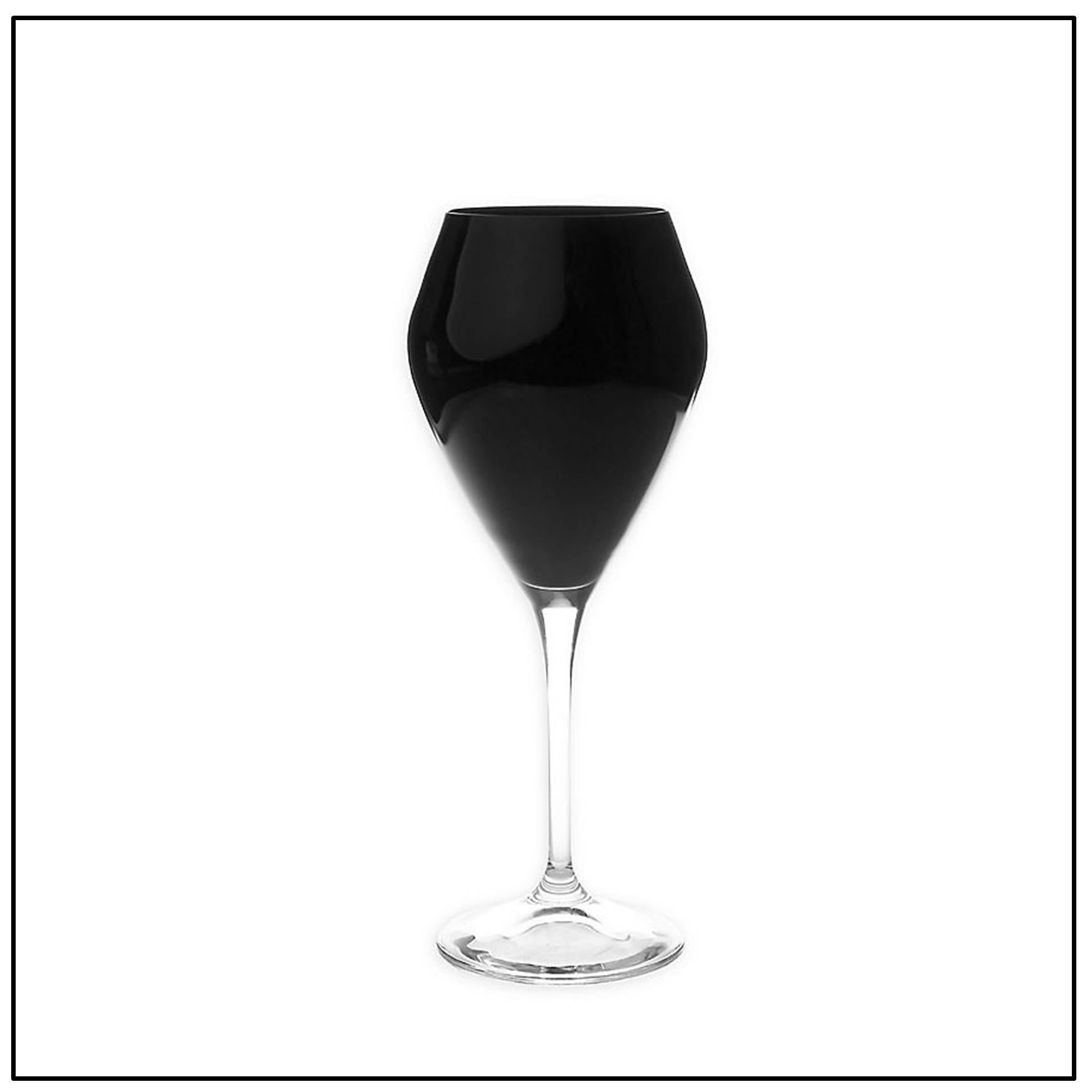 Black V Shaped Goblet set/12