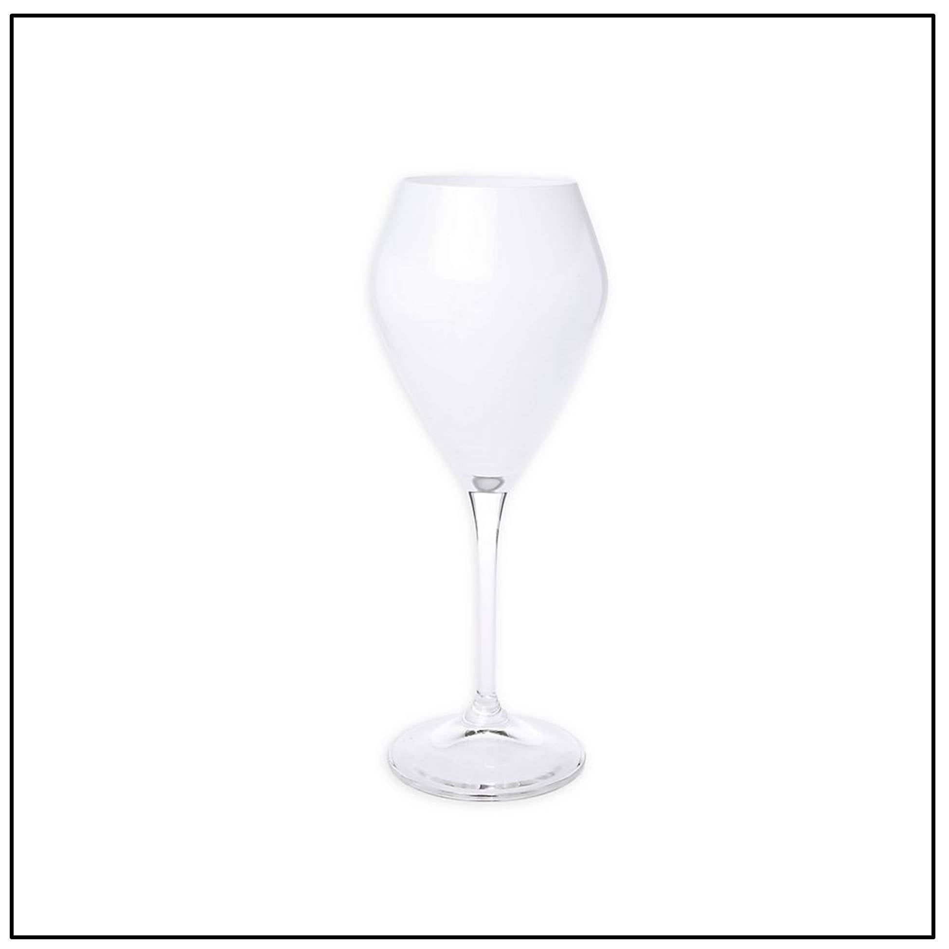 White V Shaped Goblet set/12