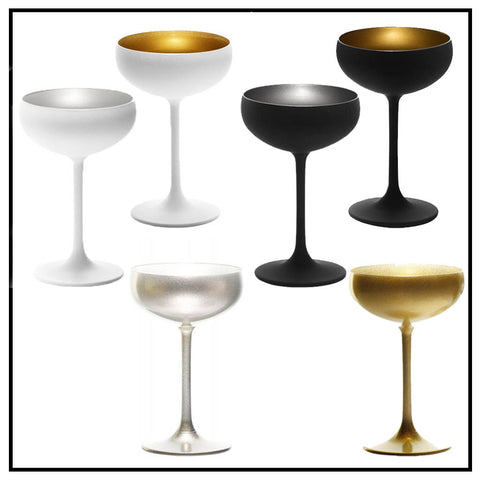 Elements Champagne Saucers set/4