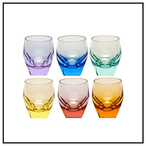 Moser Cut Shot Glasses Set/6