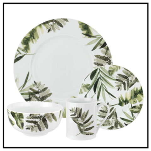 Pressed Ferns 16pc Service for 4