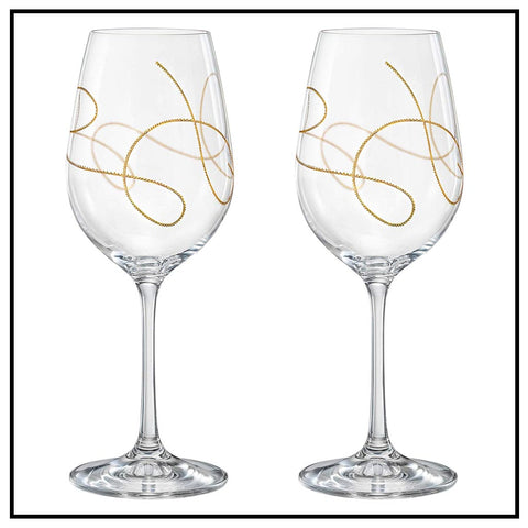 STRING DESIGN GOBLET SET/4