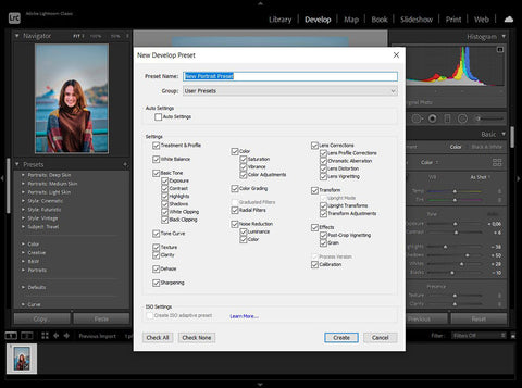 How to create lightroom shortcuts