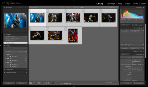 Batch Editting in Lightroom