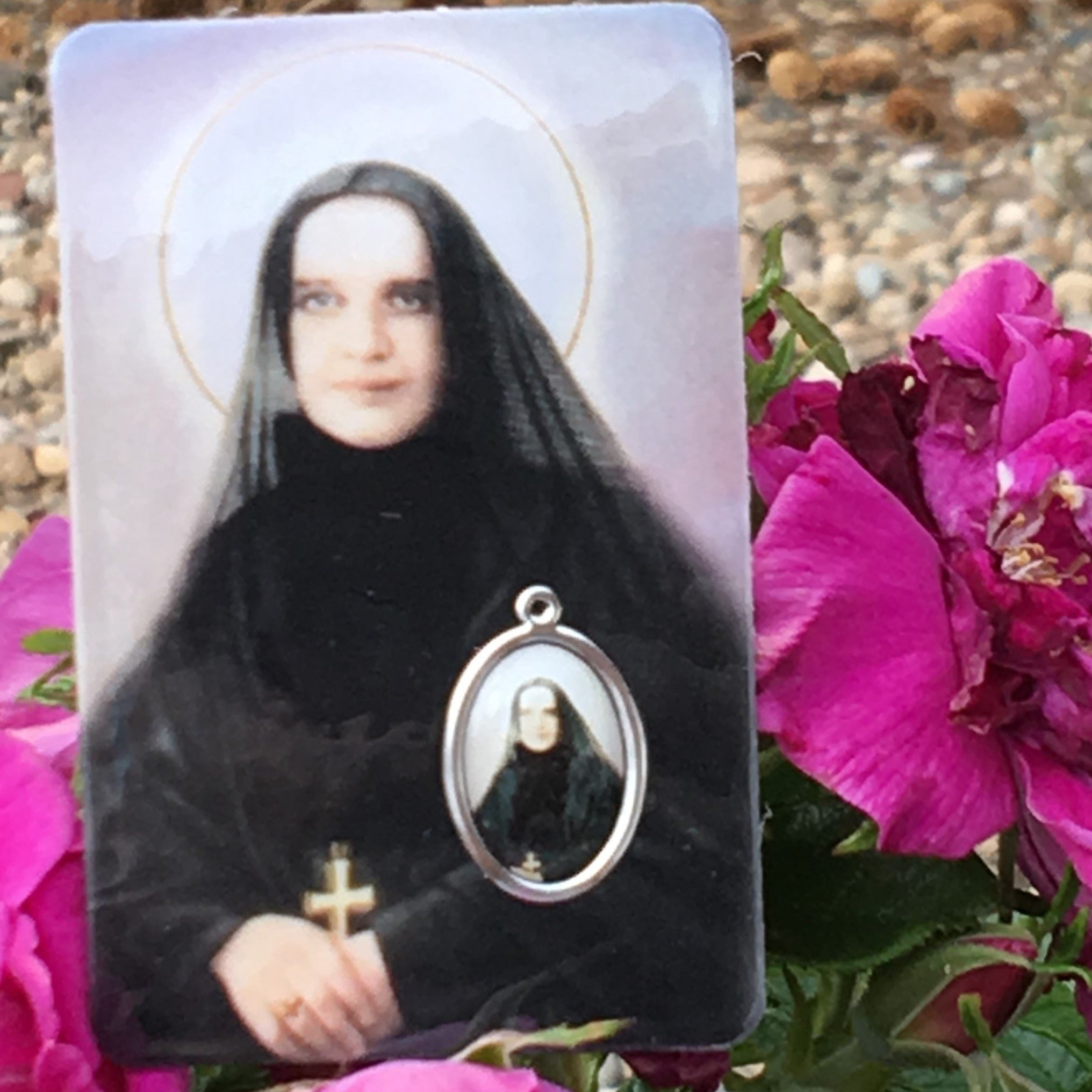Cabrini Holy Card with Medal