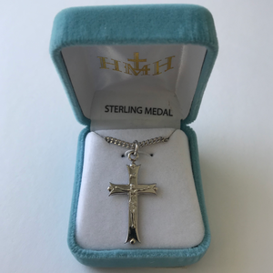 Fancy Tip Sterling Crucifix