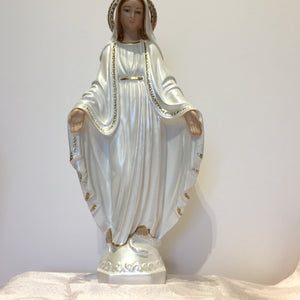 Pearlized Mary Statue 12""