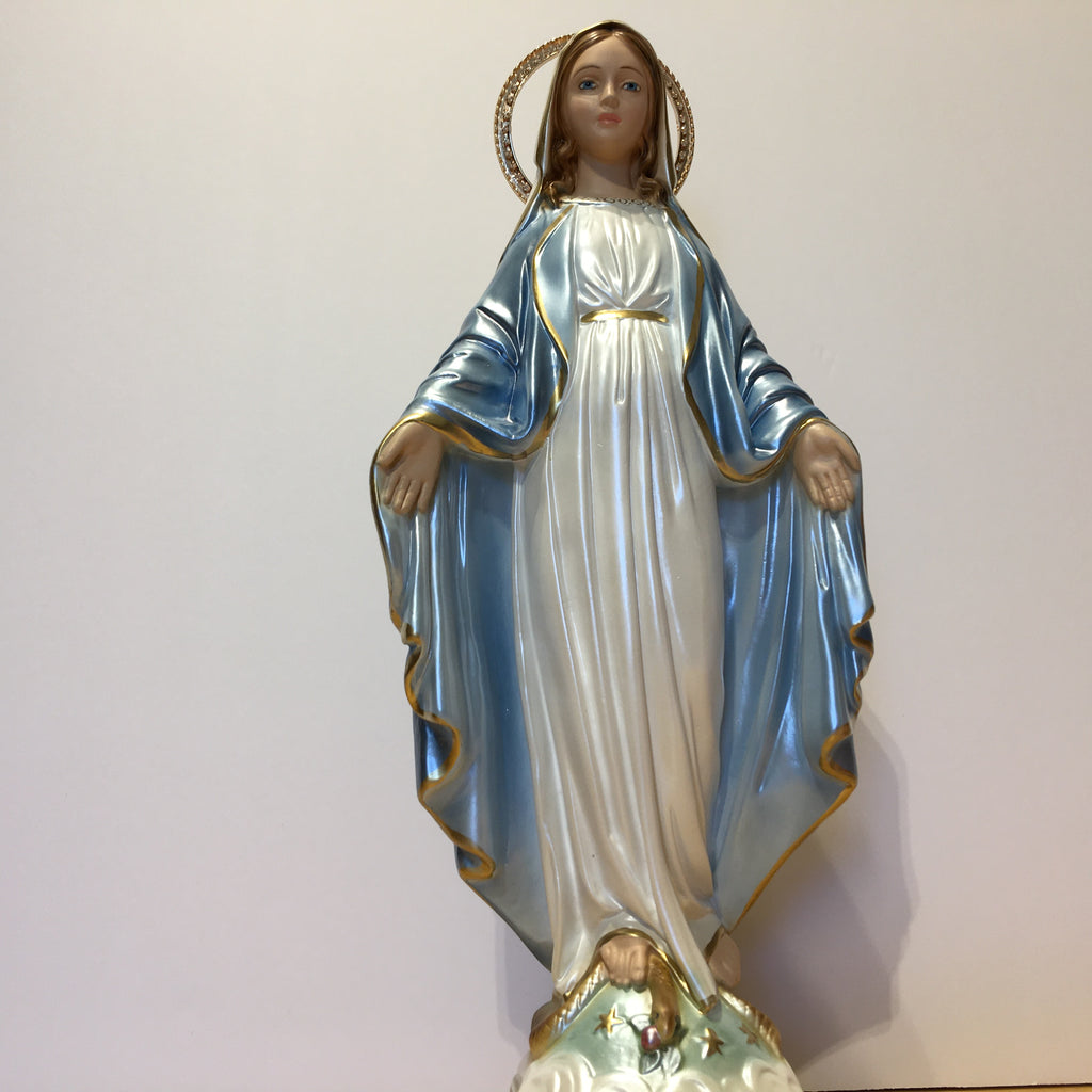 Pearlized Mary Statue 16""