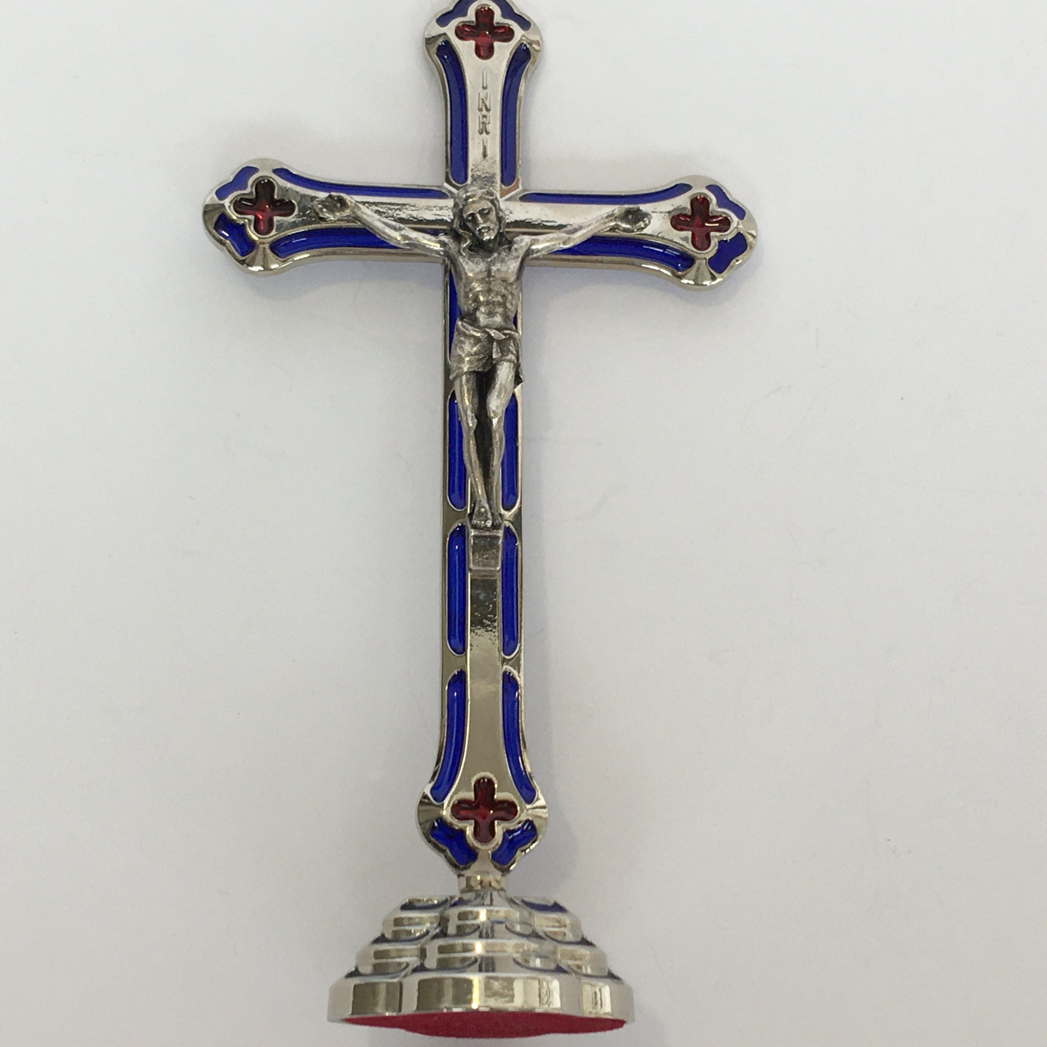 Standing Enameled Crucifix
