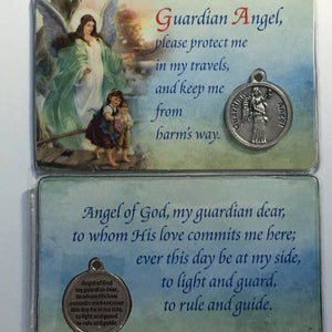 Guardian Angel Card and Medal