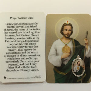 Holy Card with Medal