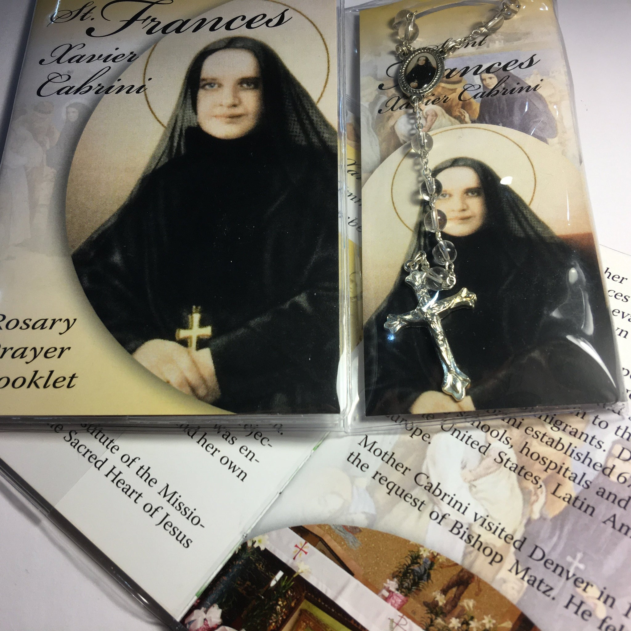 Cabrini Book and Rosary Set