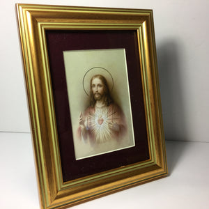 Red Matted Sacred Heart
