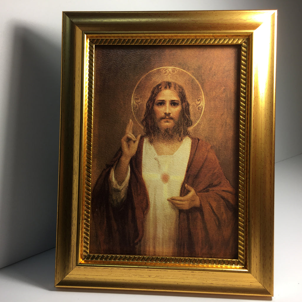 Sacred Heart of Jesus Framed Canvas