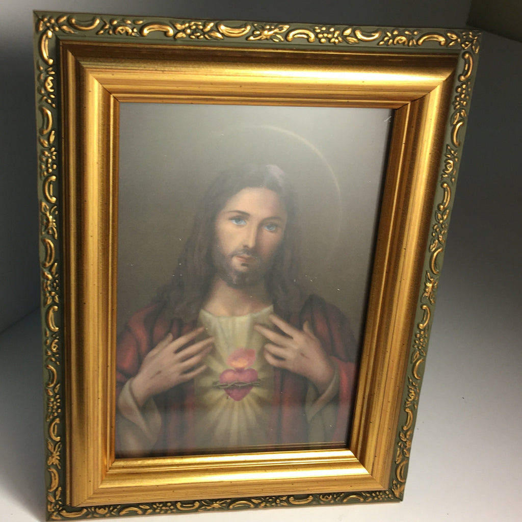 Framed Sacred Heart Image