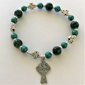 Celtic Cross Stretch Bracelet