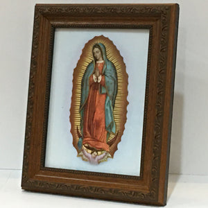 Guadalupe in Brown Frame