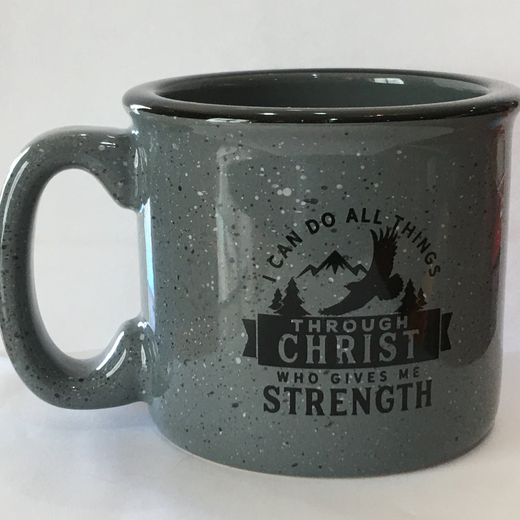 "Gray ""I can do all things"" Mug"