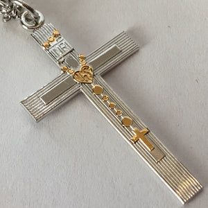 Tu-Tone Rosary Cross