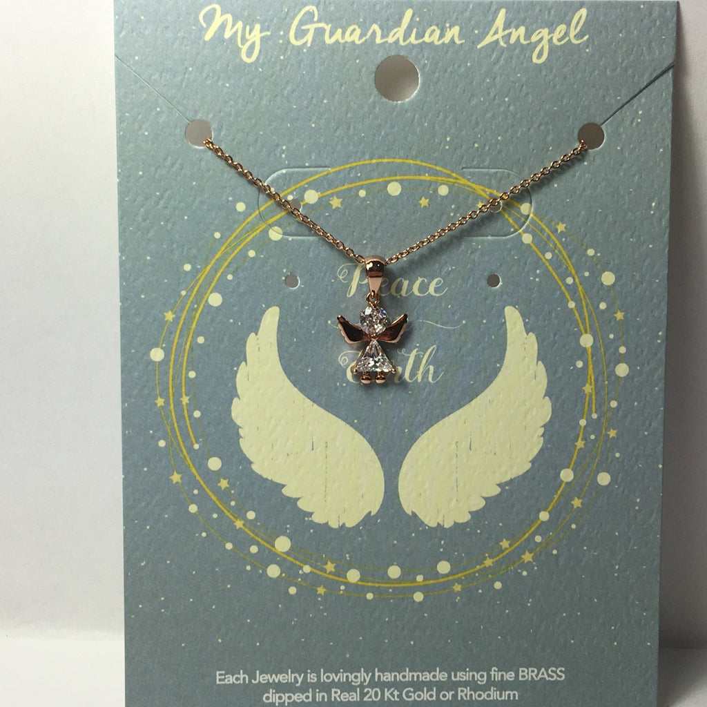 Petite Jeweled Angel Necklace