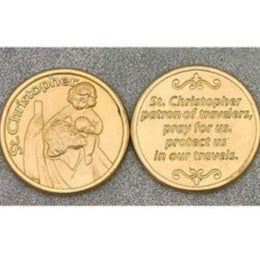 Gold Christopher Pocket Token