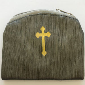 Bamboo Textured Rosary Case