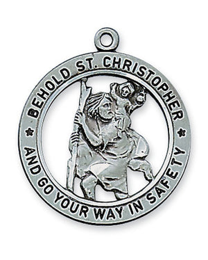 ANTIQUE SILVER ST CHRISTOPHER